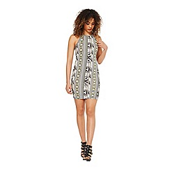 Miss Selfridge - Tribal 90's neck bodycon
