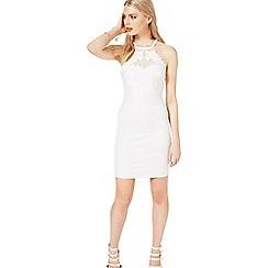 Miss Selfridge - White applique bodycon dress