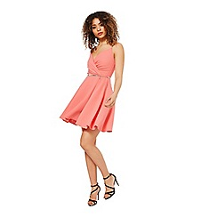 Miss Selfridge - Pink skater dress