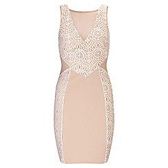 Miss Selfridge - Lace placement bodycon dress