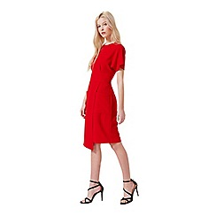 Miss Selfridge - Red wrap pocket dress