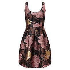 Miss Selfridge - Bow back floral prom dress