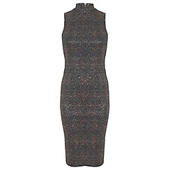 Miss Selfridge - Metallic bodycon dress