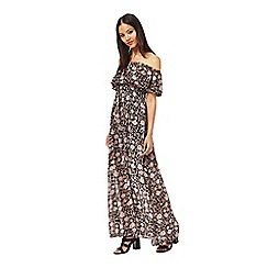 Miss Selfridge - Printed bardot maxi dress