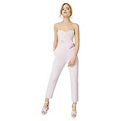 Miss Selfridge - Pink bow bandeau jumpsuit