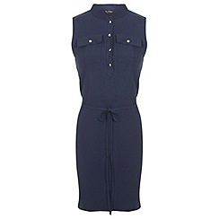 Miss Selfridge - Navy shirt dress