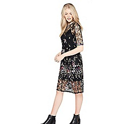 Miss Selfridge - Embroidered floral midi dress