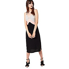Miss Selfridge - Colour block slip dress
