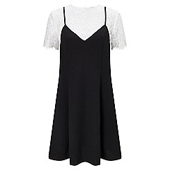 Miss Selfridge - Lace tee cami dress