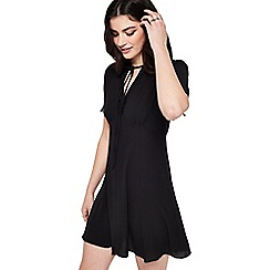 Miss Selfridge - Black lace tea dress