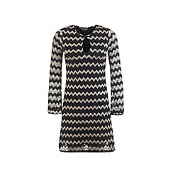 Miss Selfridge - Long sleeved zig zag dress