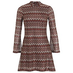 Miss Selfridge - Zig zag lace shift dress