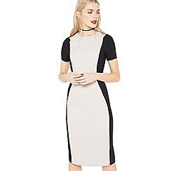 Miss Selfridge - Colour block cutout dress
