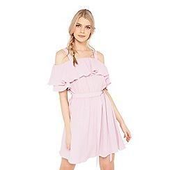Miss Selfridge - Ruffle cold shoulder dress