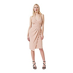 Miss Selfridge - Nude strappy pencil dress