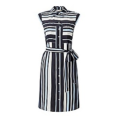Miss Selfridge - Blue stripe shirt dress