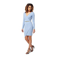 Miss Selfridge - Blue long sleeve dress