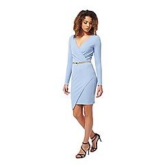 Miss Selfridge - Blue long sleeve dress