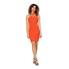 Miss Selfridge - Red pencil cage neck bodycon