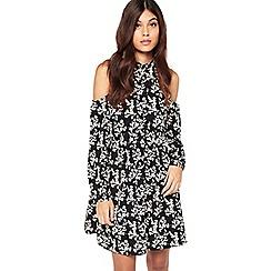 Miss Selfridge - Floral cold shoulder smock dress