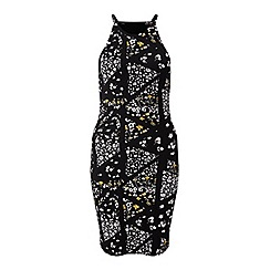 Miss Selfridge - Printed 90s neck bodycon dress