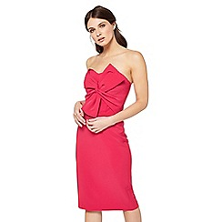 Miss Selfridge - Pink bandeau bow dress