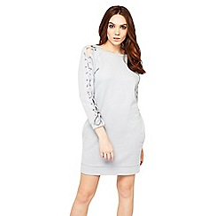 Miss Selfridge - Lace up sleeve jumper dress