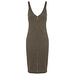 Miss Selfridge - Rib zip front dress