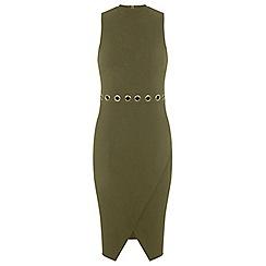 Miss Selfridge - Eyelet wrap dress
