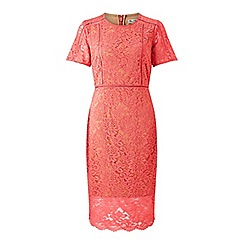 Miss Selfridge - Pink ladder insert lace dress