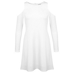 Miss Selfridge - White cold shoulder dress