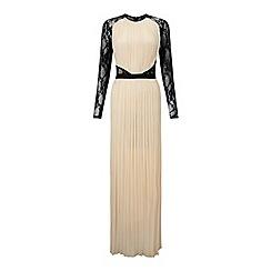 Miss Selfridge - Lace sleeve pleated maxi dress