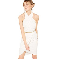 Miss Selfridge - Twist halter dress