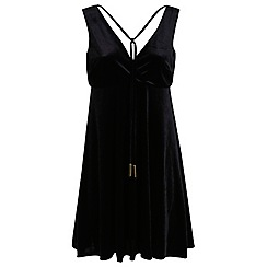 Miss Selfridge - Velvet babydoll dress