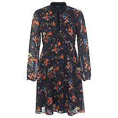 Miss Selfridge - Printed collar dress