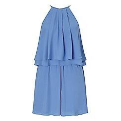 Miss Selfridge - Blue double layer playsuit