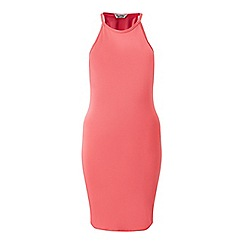 Miss Selfridge - Pink 90's neck bodycon dress