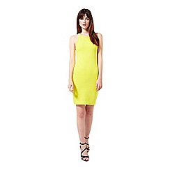Miss Selfridge - Chartreuse 90's bodycon dress