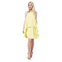 Miss Selfridge - Yellow double layer dress