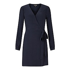 Miss Selfridge - Navy wrap belted dress