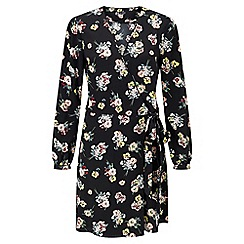 Miss Selfridge - Floral wrap belt dress