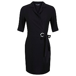 Miss Selfridge - Black wrap shirt dress