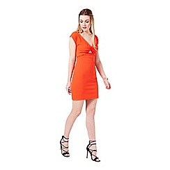 Miss Selfridge - Red twist front bodycon dress