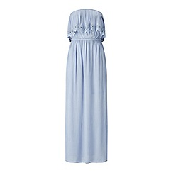 Miss Selfridge - Blue bandeau maxi dress