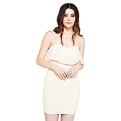 Miss Selfridge - Lace band mini dress