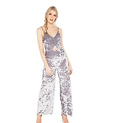 Miss Selfridge - Velvet cutout jumpsuit