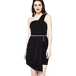 Miss Selfridge - One shoulder pleat dress