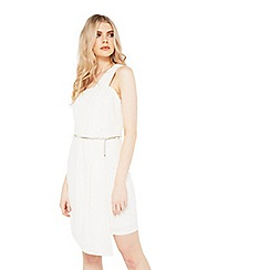 Miss Selfridge - One shoulder pleat dress