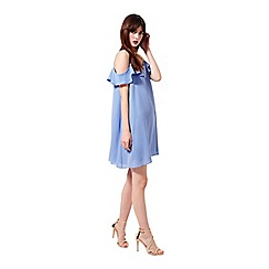 Miss Selfridge - Cold shoulder frill dress