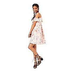 Miss Selfridge - Print cold shoulder dress